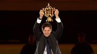Richie McCaw delivers the Webb Ellis Cup at Rugby World Cup 2019