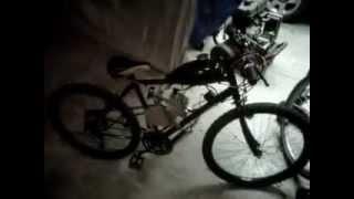 first start of the motorized bike 80cc