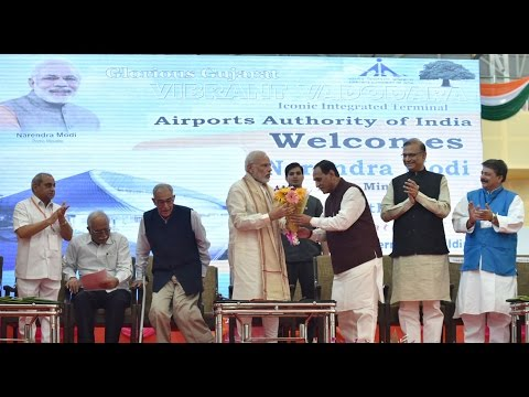PM at the Inauguration of Integrated Terminal Building of Vadodara Airport
