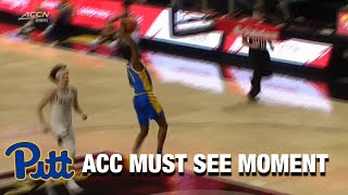 Pitt's Xavier Johnson Gets The Steal And Goes For A Dunk | ACC Must See Moment