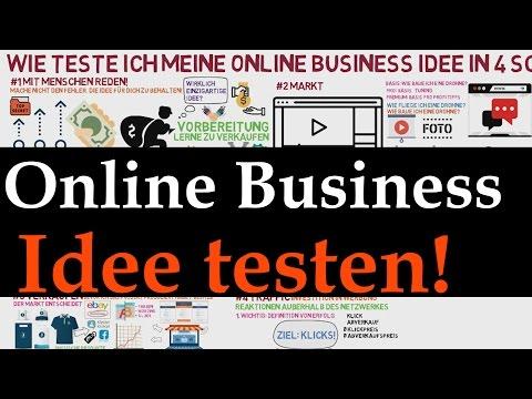 Online Business Idee - Ideen in 4 Schritten testen!