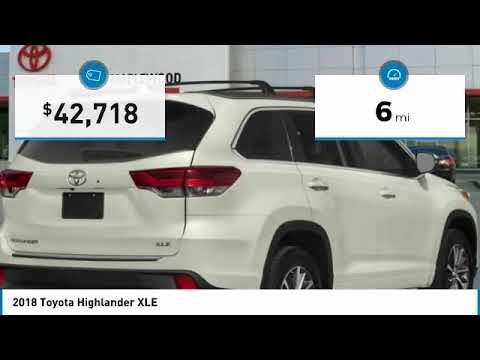 2018 Toyota Highlander XLE Maplewood, St Paul, Minneapolis, Brooklyn Park, MN J12962