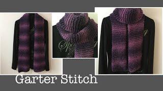 대바늘 목도리-가터뜨기 / Knitting Scarf -Garter Stitch