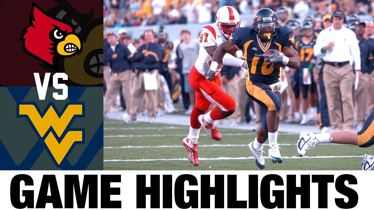 Louisville vs West Virginia | 2005 Game Highlights | 2000's Games of the Decade