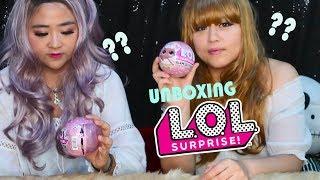 Pertama kali unboxing dapat RARE L.O.L. Surprise Glam Glitter || Sister Challenge (sub - english)