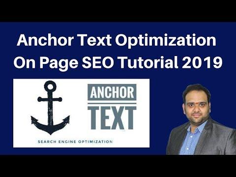Anchor Text Optimization  On Page SEO Tutorial 2019 | Digital Marketing Tutorial thumbnail