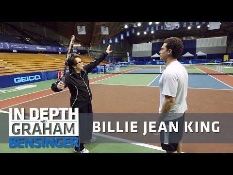 Billie Jean King's tennis lesson for Graham