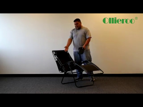 Ollieroo Zero Gravity Chair with Shade Black
