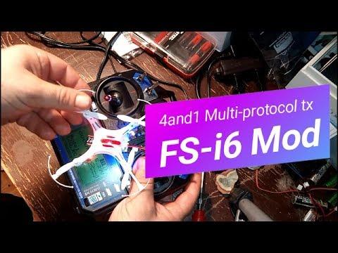 Bind FlySky FS-i6, I6x~4in1 Multi-Protocol Module Installation~ Eachine, JJRc & Syma Quadcopters!