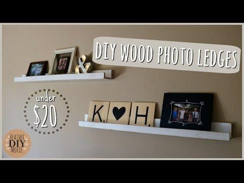 DIY Home Decor⎪Custom Photo Ledges Under $20
