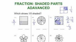 Fractions: Shaded Part Advanced