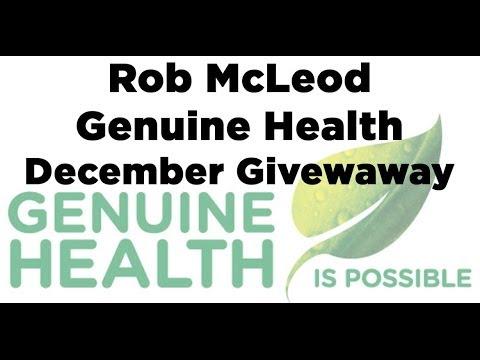 Rob McLeods Genuine Health December 2013 Contest Winners