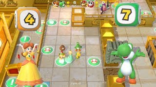Super Mario Party Partner Party #210 Tantalizing Tower Toys Daisy & Yoshi vs Bowser & Shy Guy