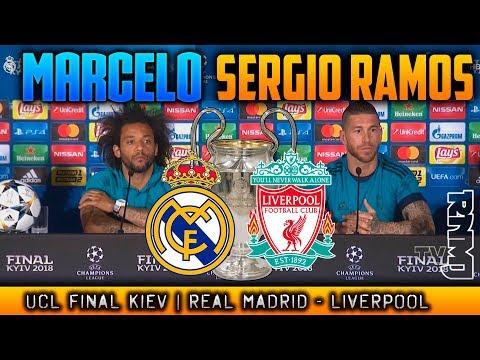 RUEDA DE PRENSA de MARCELO Y SERGIO RAMOS Previa  de Champions