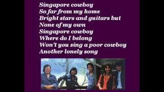 Matthew & The Mandarins - Singapore Cowboy (with lyrics)