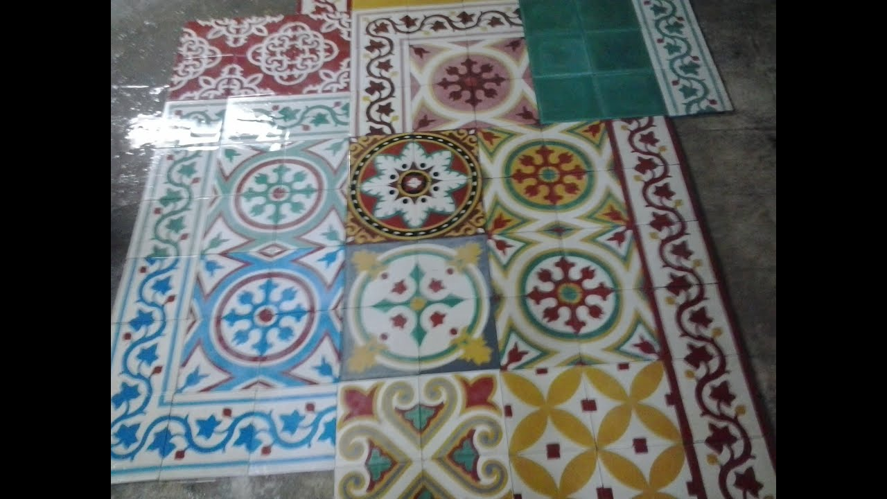 Carreaux ciment tunisie youtube for Carrelage tunisie