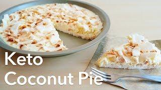 Low Carb Keto Coconut Cream Pie | ASMR cooking sounds