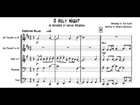 'O Holy Night' for Brass Quintet