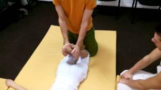 Обучение тайскому массажу.  Ноги.  Часть 1