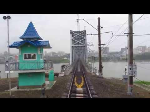 Новосибирск-Гл. и мост через Обь