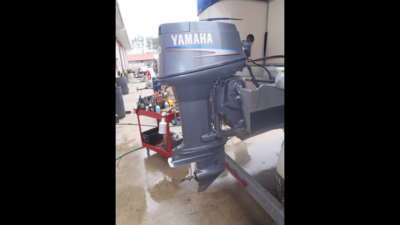 hight resolution of 6h5kl 1002869 used 2004 yamaha 50tlrc 50hp yamaha outboard boat motor youtube