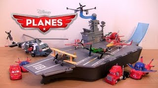 Disney Planes Yorkie Aircraft Carrier Playset Stores 6 planes | Cars Mack Truck Lightning McQueen thumbnail