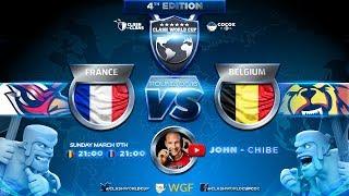 🔴 FRANCE vs BELGIQUE | 8e DE FINALE COUPE DU MONDE CLASH OF CLANS | CWC