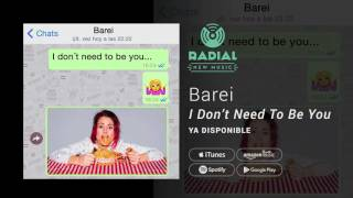 Video I Don't Need to Be You Barei