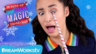 Candy Cane IN YOUR EYE  | JUNK DRAWER MAGIC 12 DAYS OF TRICKMAS