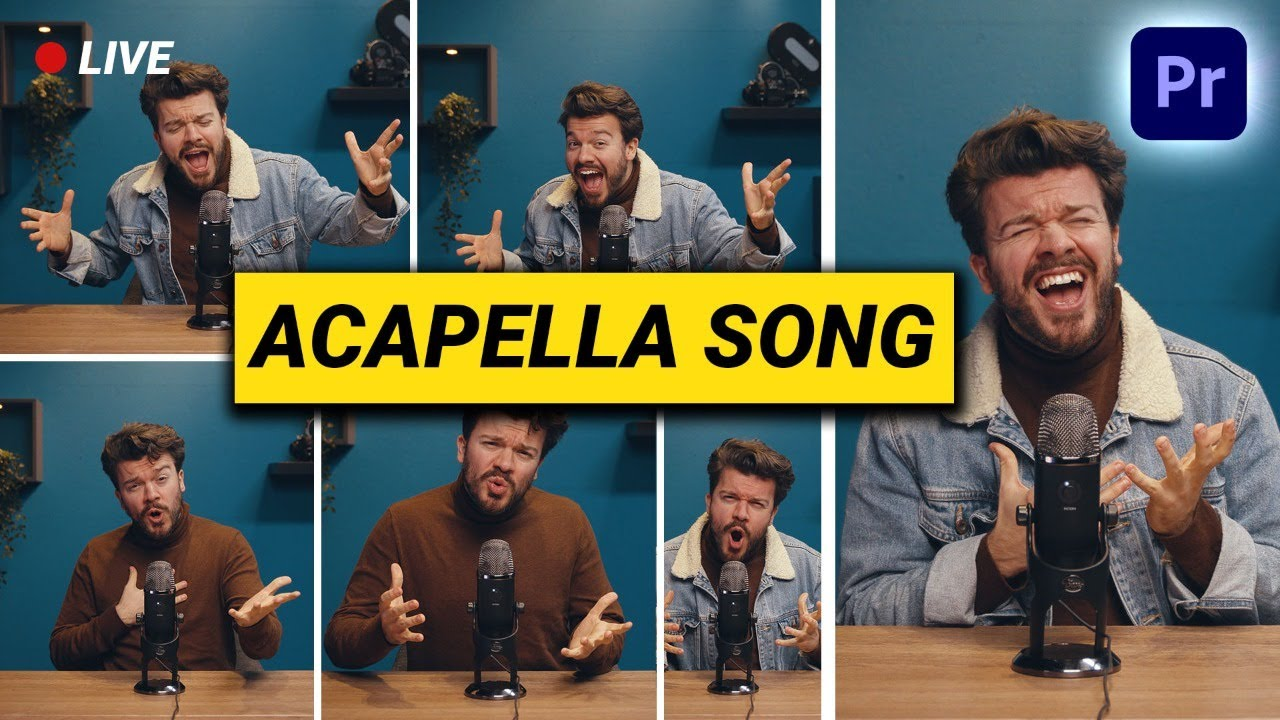 How to EDIT and CREATE your own ACAPELLA SONG (Live Session)
