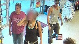 Caught on Camera: Woman Scams Store Out of $400 Gift Card (3-4-15)