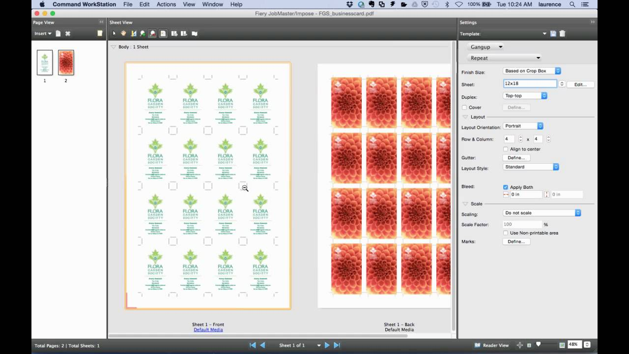 Fiery feature demonstration - Fiery Impose templates for business ...