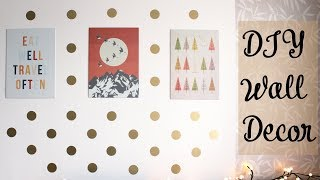DIY Wall Decoration for Spring 2018 | How to makeover Walls | Create-a-mural Gold Wall Dots
