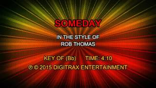 Rob Thomas - Someday (Backing Track)