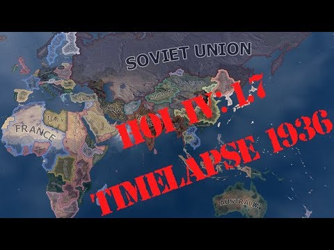 Hearts of Iron IV 1.7 Time Lapse (1936) |