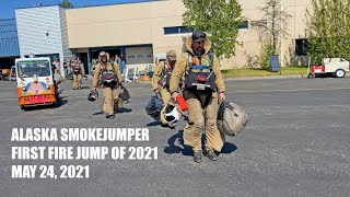 Alaska Smokejumpers fire alarm for first fire jump of 2021