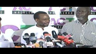 LIVE: #Zitto Kabwe Akiongea na Waandishi wa Habari