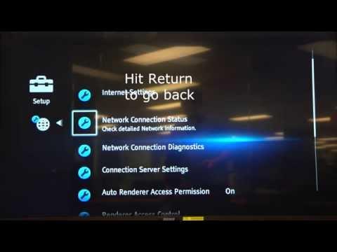 Sony Bluray 2014 Wireless manual IPDNS entry