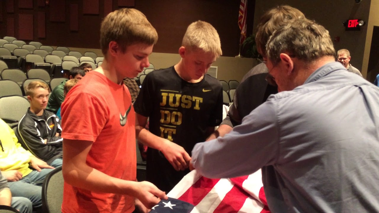 U.S. Army Veteran Rick Williams talks about folding the U.S. flag