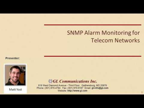 SNMP Alarm Monitoring for Telecom Networks