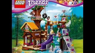 LEGO® Friends 41122 Спортивный лагерь: дом на дереве. Инструкция по сборке