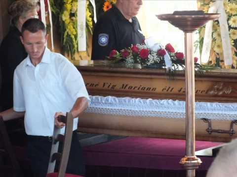 Mariann temetése
