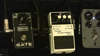 Boss Noise Suppressor Pedal Vs Mxr Smart Gate Noise Gate - With Rockett 10 Ton Hammer