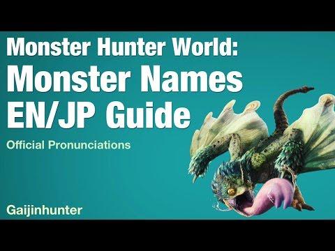 Monster Hunter World: Monster Names English/Japanese