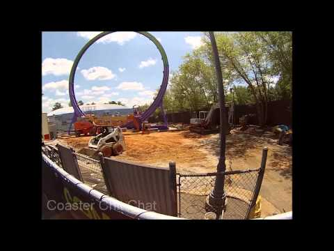 Six Flags Over Georgia: Gotham City Expansion Construction Update Early May 2015