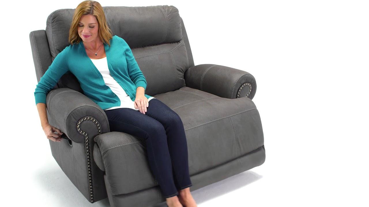 furniture signature austere brown recliner design dp power amazon oversized ashley com