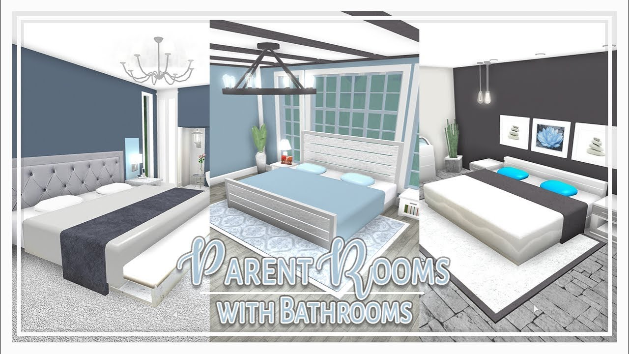 Bloxburg | Parent Master Bedrooms (w/ attached bathrooms ...