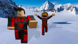 Defeating the Ice Monster! Roblox Frosty Mountain Story