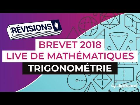 Brevet 2018 - Révisions de Maths : Trigonométrie
