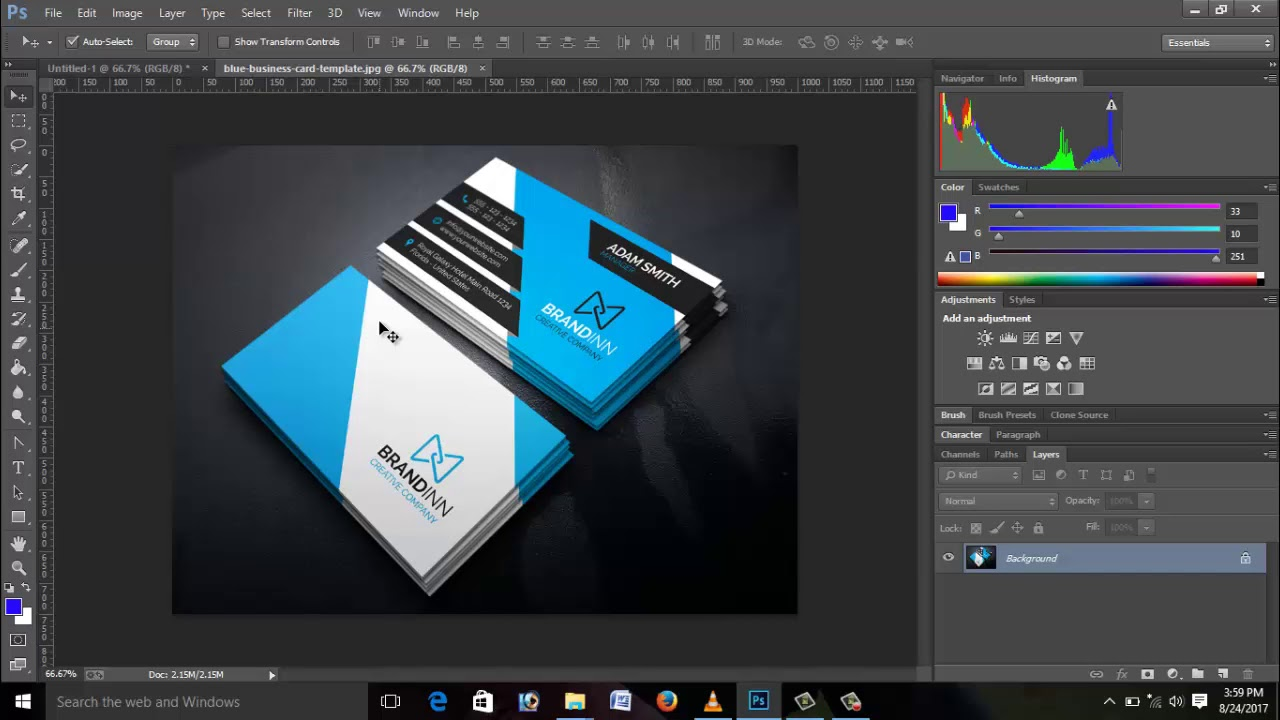 How To Make Business Card In Photoshop CC Bangla Tutorial Part-1 ...
